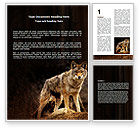 Agriculture and Animals: Coyote Word Template #06203