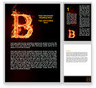 Abstract/Textures: B Letter Word Template #06221
