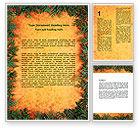 Abstract/Textures: Grünpflanzen muster Word Vorlage #06234
