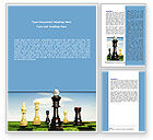 Business Concepts: Chess King Word Template #06250
