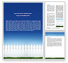 Construction: Wooden Fence Word Template #06252