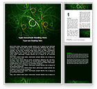 Abstract/Textures: Green Abstract Lines Word Template #06253