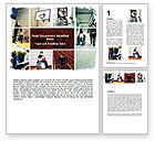 Sports: Disabled People Word Template #06256