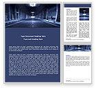 Construction: Plantilla de Word - túnel subterráneo #06267