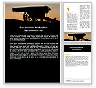Military: Alamo Sunset Word Template #06269