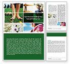 Nature & Environment: 週末の楽しみ - Wordテンプレート #06289