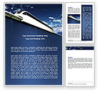 Cars/Transportation: Monorail Word Template #06309