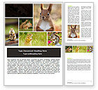 Agriculture and Animals: Squirrel Word Template #06311