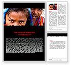 People: Children Around The World Word Template #06312