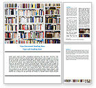 Education & Training: Book Shelves Word Template #06313