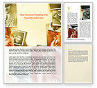 Careers/Industry: Vintage Photo Frame Word Template #06322