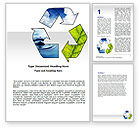 Nature & Environment: Recycle Word Template #06325
