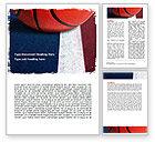 Sports: Basketball Ball Word Template #06326