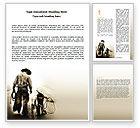 America: Plantilla de Word - niño vaquero #06327