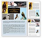 Agriculture and Animals: Bird Of Prey Word Template #06331