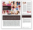 People: Pajama Party Word Template #06341