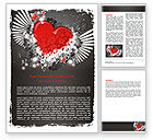 Holiday/Special Occasion: Flying Heart Word Template #06344