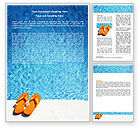 Careers/Industry: Slippers On A Pool Skirting Word Template #06352