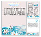 Nature & Environment: Water Lilies Word Template #06371