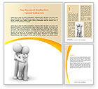 Religious/Spiritual: Hugging Word Template #06372