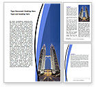 Construction: Petronas Twin Towers Word Template #06375