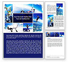 Sports: Sky Diving Word Template #06404