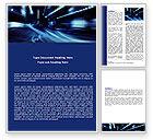 Cars/Transportation: Blue Night Word Template #06412