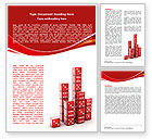 Business Concepts: Dice Bar Chart Word Template #06415