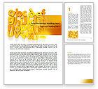 Education & Training: Orange Alphabet Word Template #06418