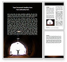 Business Concepts: Exit From Tunnel Word Template #06419