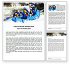 Sports: Whitewater Rafting Word Template #06429