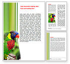 Agriculture and Animals: Australian Parrot Word Template #06431