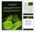 Medical: Bacilli In Green Color Word Template #06436