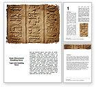 Education & Training: Egyptian Petroglyphs Word Template #06448