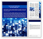 Abstract/Textures: Blue Cubical Theme Word Template #06453