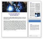 Utilities/Industrial: Arc Welding Word Template #06470