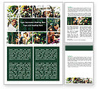 Education & Training: Jungle Showcase Word Template #06471