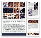 Cars/Transportation: City Traffic Word Template #06476