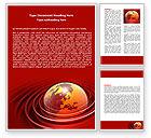 Global: Red Globe Word Template #06477