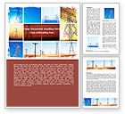 Utilities/Industrial: Transmission Lines Word Template #06482