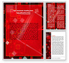 Abstract/Textures: Red Squares Abstract Word Template #06495
