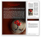 Careers/Industry: Ribbon And Scissors Word Template #06506