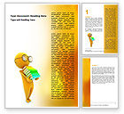 Education & Training: Man With A Stack Of Book Word Template #06524
