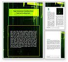 Abstract/Textures: Plantilla de Word - descarga electromagnética #06535