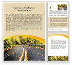 Construction: Autumn Road Word Template #06536