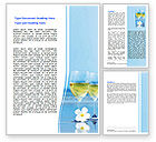 Careers/Industry: Two Wineglasses Word Template #06540