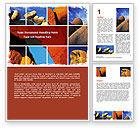 Nature & Environment: Yellow Rocks Word Template #06542