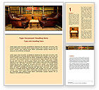 Business: Antique Interior With Chess Word Template #06545
