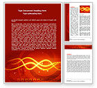 Abstract/Textures: Glowing Wave Word Template #06546