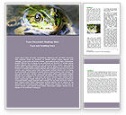Agriculture and Animals: Marsh Frog Word Template #06553
